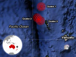 Pacific Ocean Earthquake